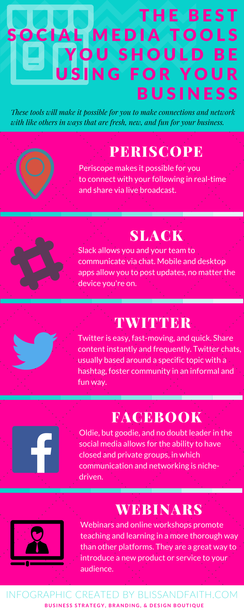 5 Social Media Tools You Should Be Using For Your Business   BlissandFaith.com