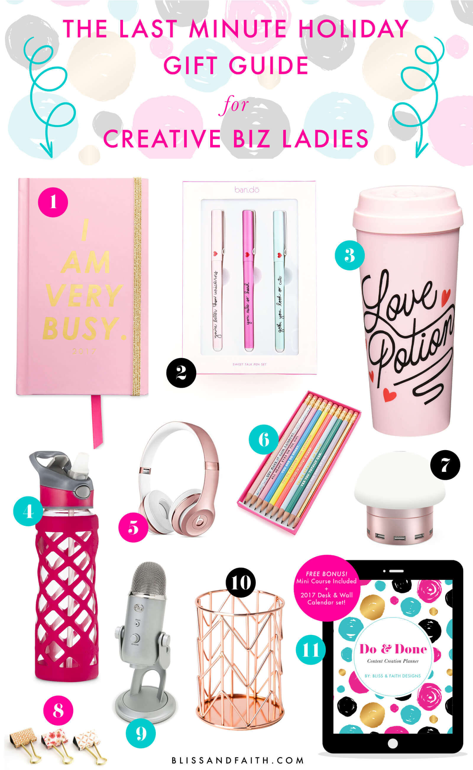 The Last Minute Holiday Gift Guide for Creative Biz Ladies   BlissandFaith.com