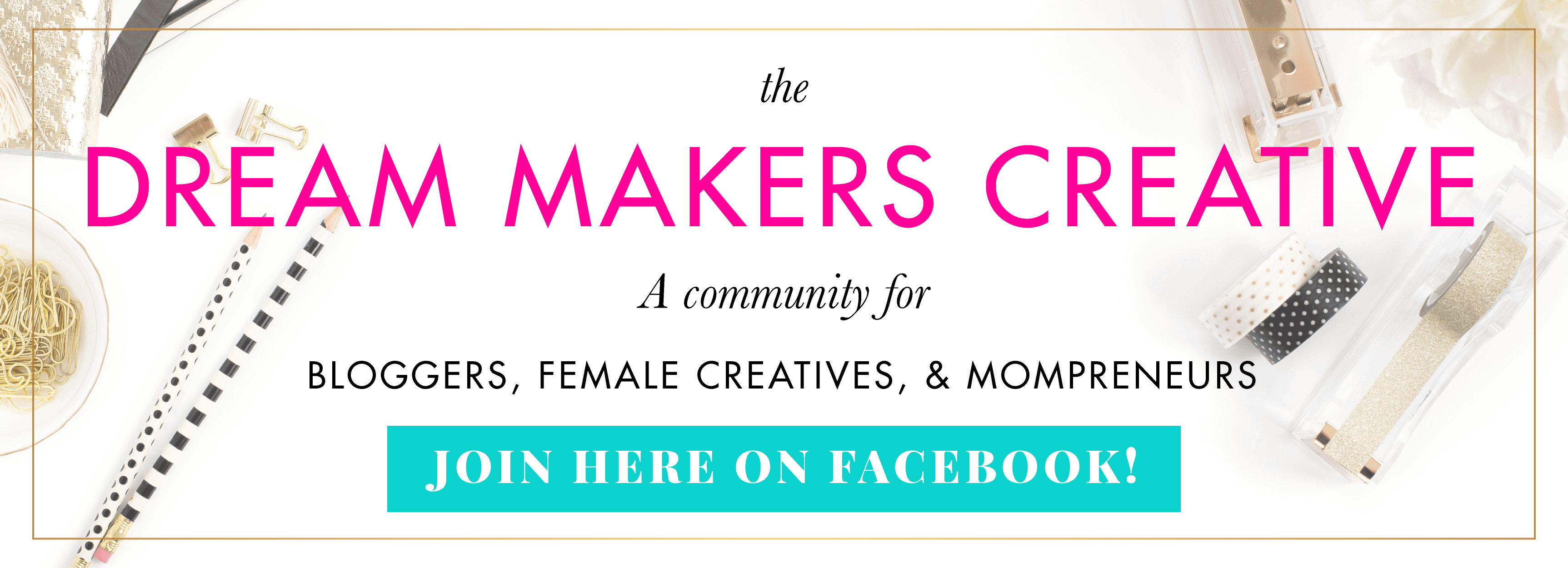 Dream Makers Creative Facebook Group by BlissandFaith.com